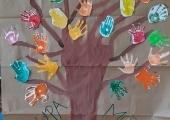 Grupowe drzewo dłoni