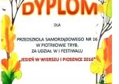 Scan Jesień w wierszu i piosence - PS 16
